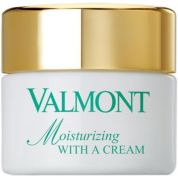 with a cream Moisturizing Valmont