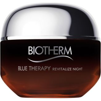 Crème de nuit anti-âge Amber Algae Blue Therapy Revitalize Night Biotherm