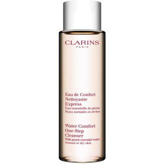 With Peach Essential Water Water Comfort One-Step Cleanser  Clarins
