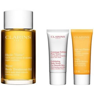 Corps et Bain Spa at Home Coffret Huile Tonic Clarins